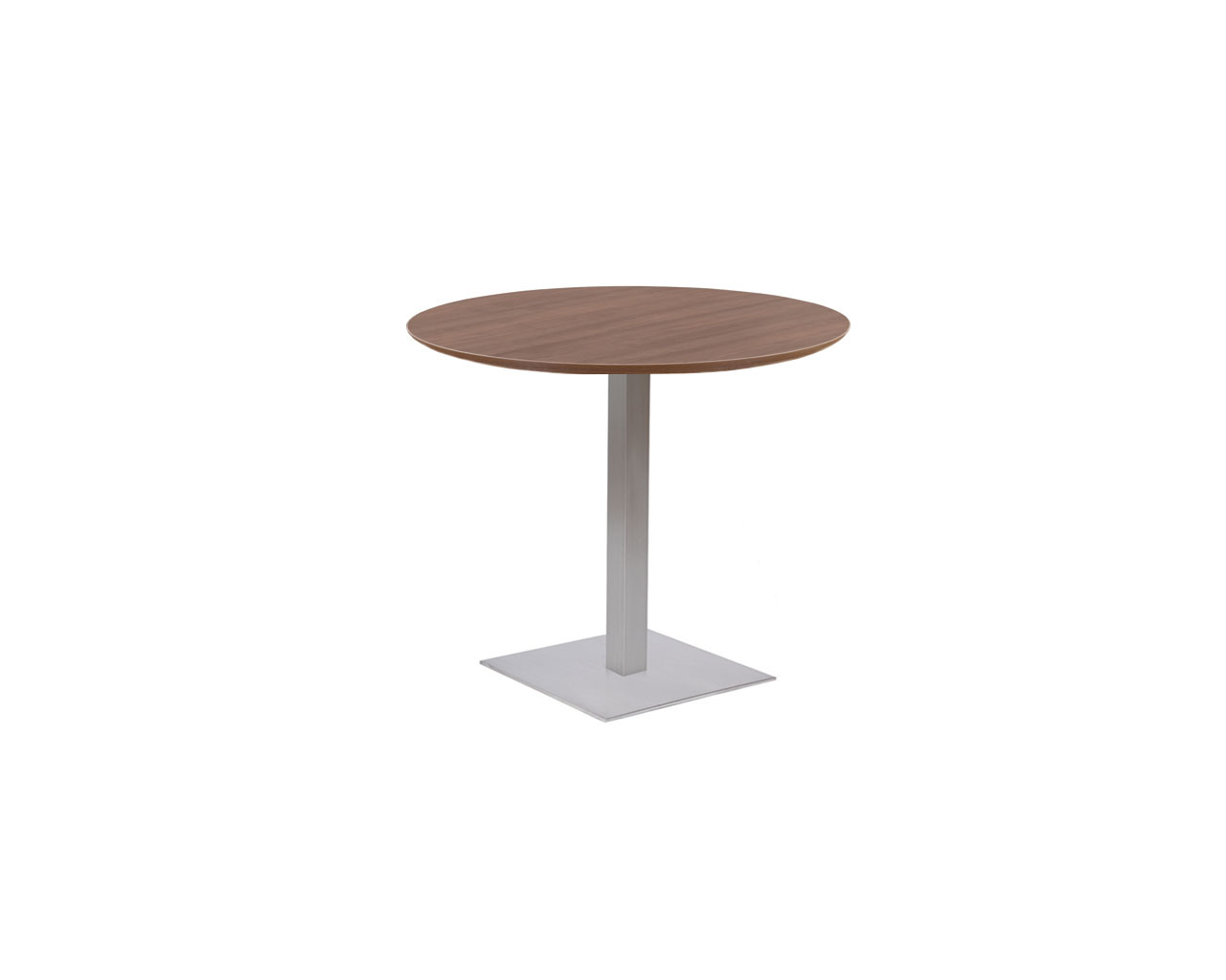 Classic Round Beveled Top Table with Square Base