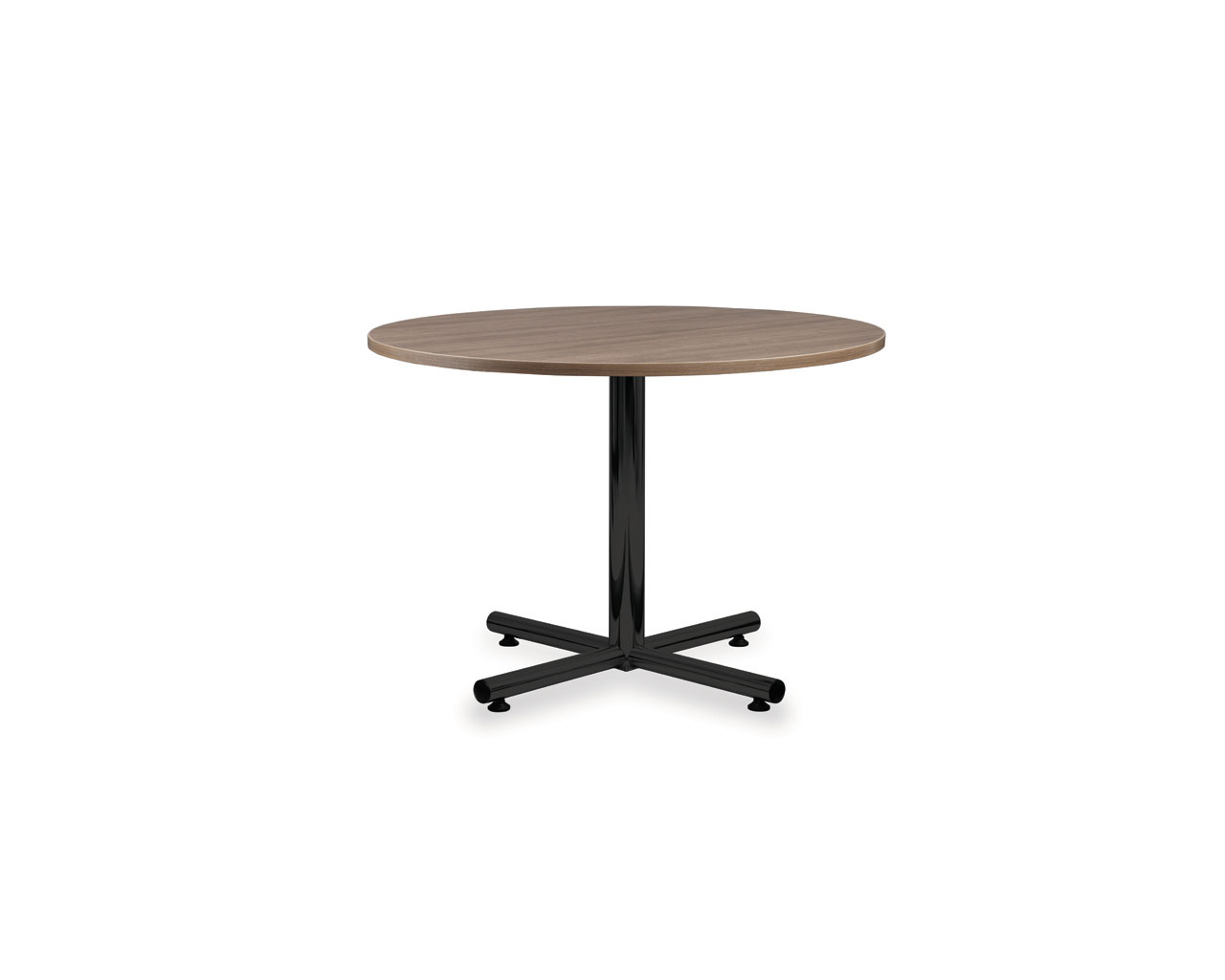 Classic Round Conference Table  with Black Metal Base
