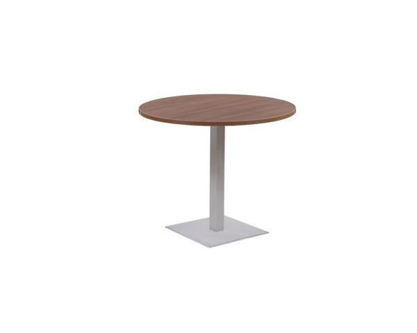 Classic Round Conference Table with Square Base