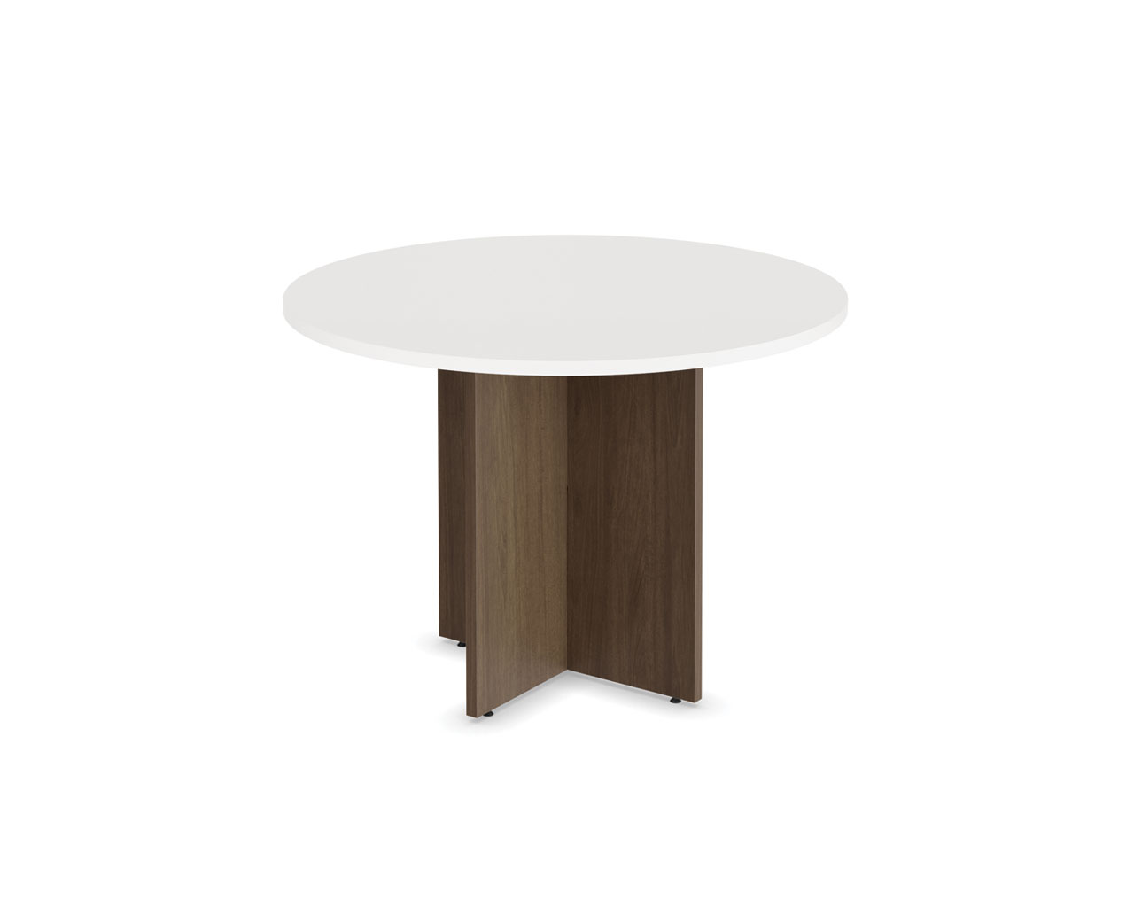 Classic Round Conference Table With Cross Base - Round pedestal conference table