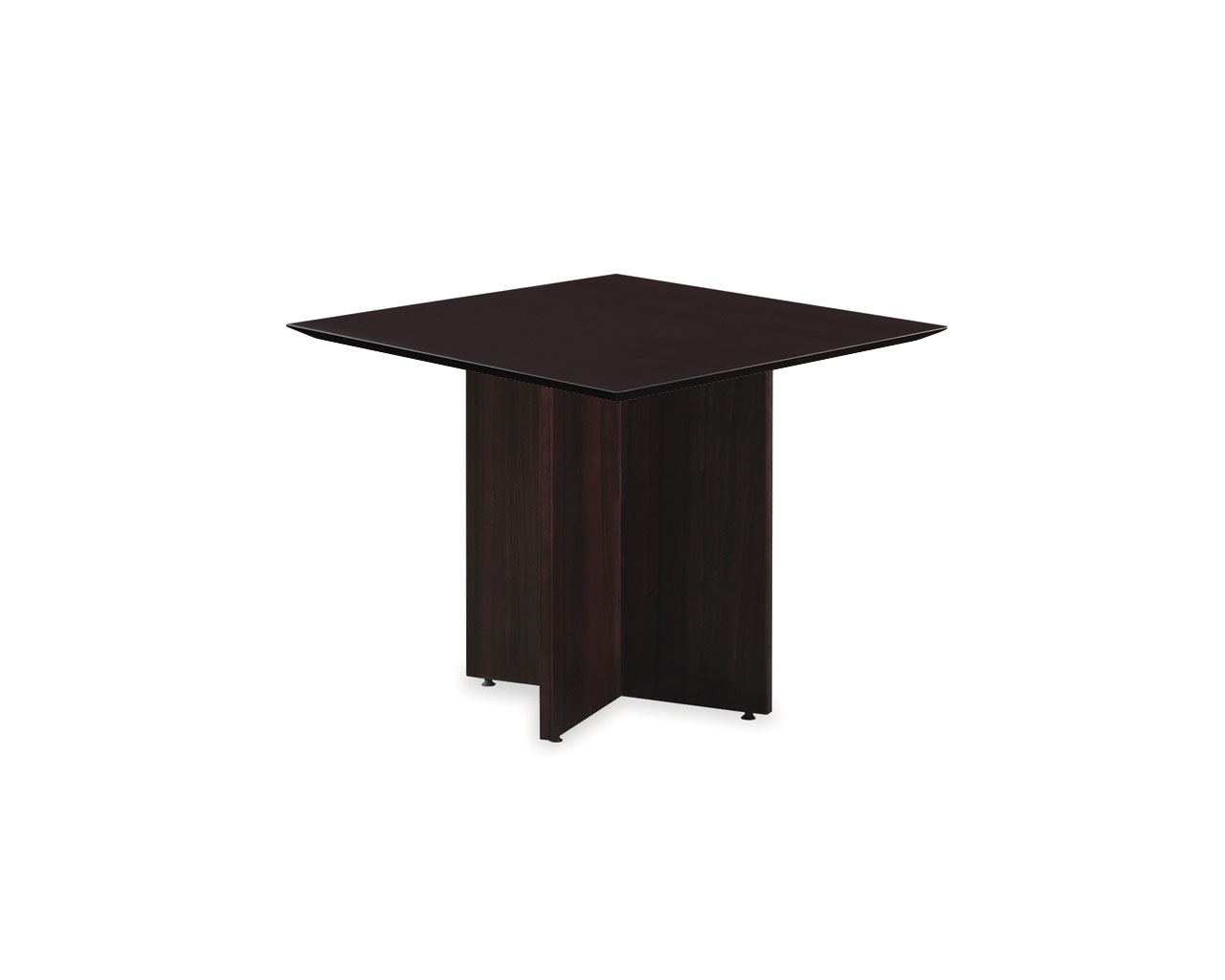 Classic Square Conference Table with Cross Base