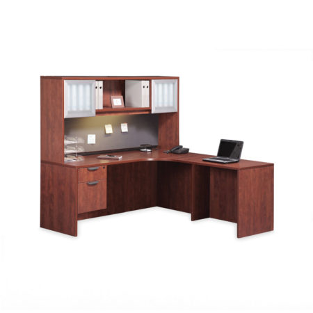 Classic L-Shaped Corner Desk with Optional Hutch