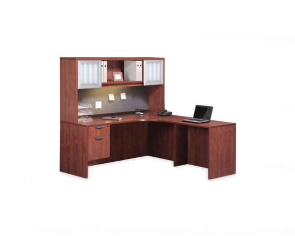 Classic L-Shaped Corner Desk with Optional Hutch