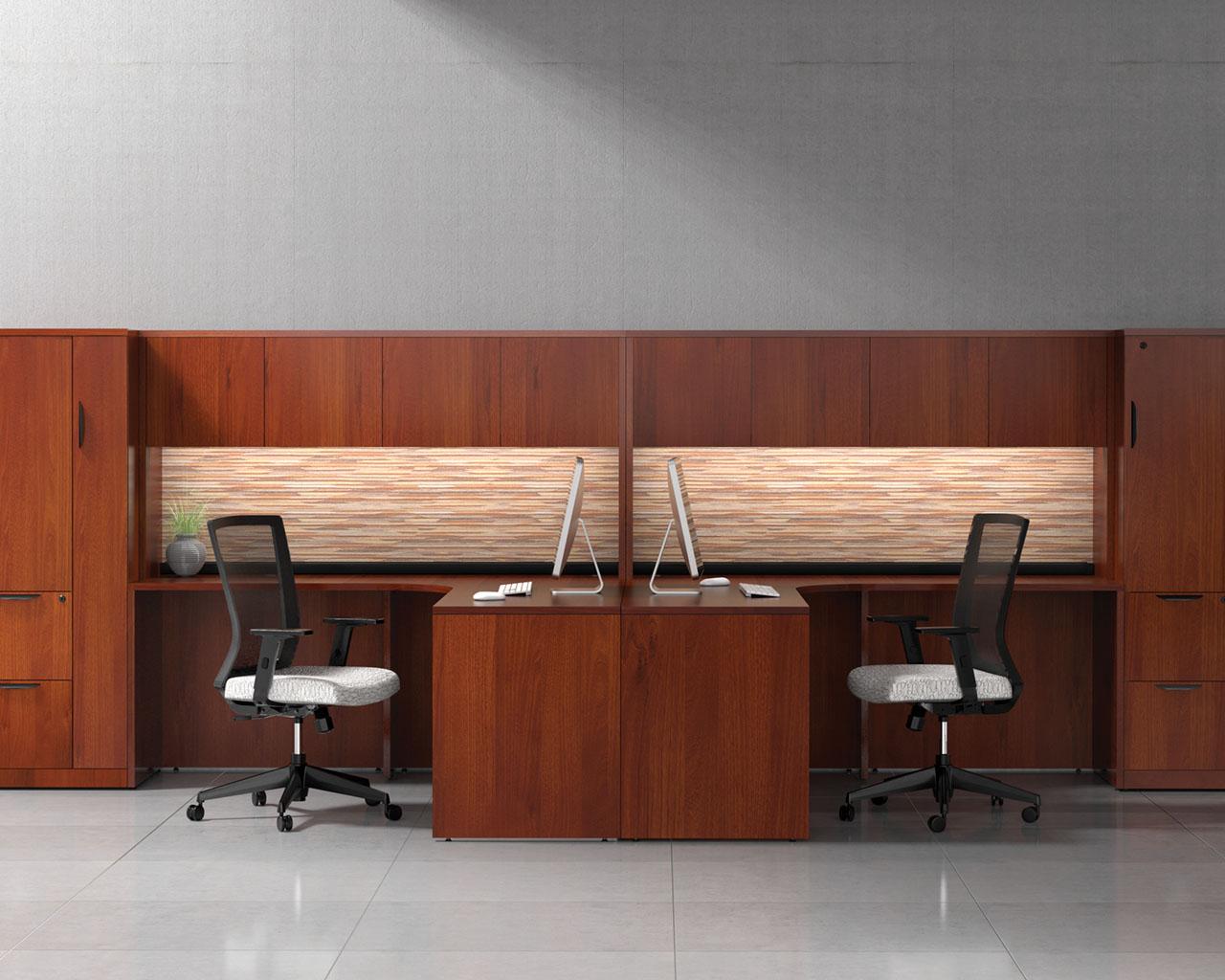 L-Shaped Corner desk with Optional Hutch (2 shown)