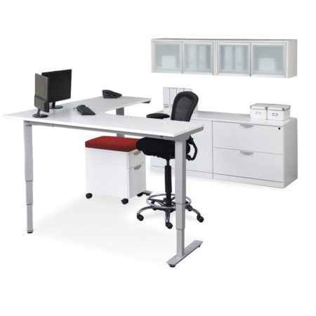 Corner Electric Height Adjustable Table
