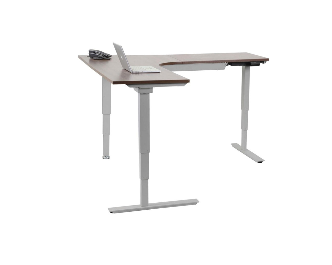 Classic corner electric height adjustable table for Motorized adjustable height desk