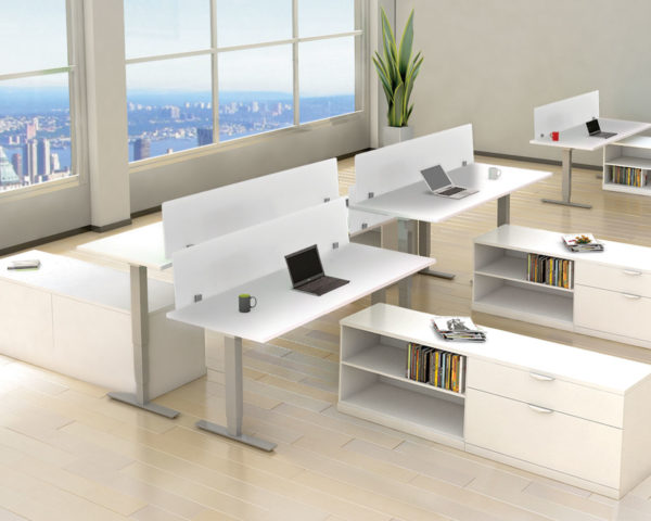 Beveled Edge Height Adjustable Table (Not exactly as shown)