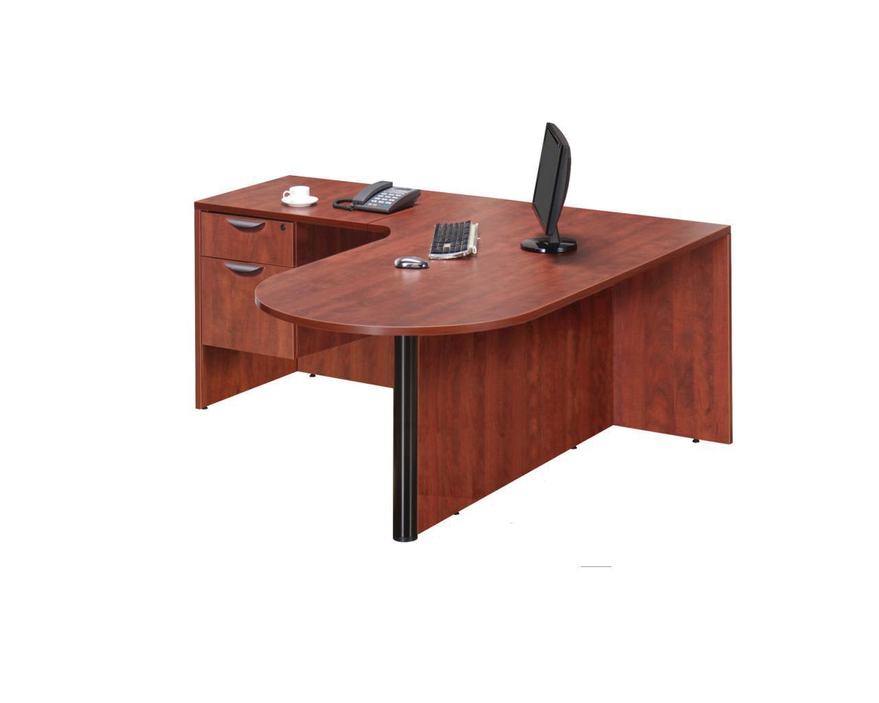 Bullet Desk Workstation with a 3/4 Box/File Pedestal