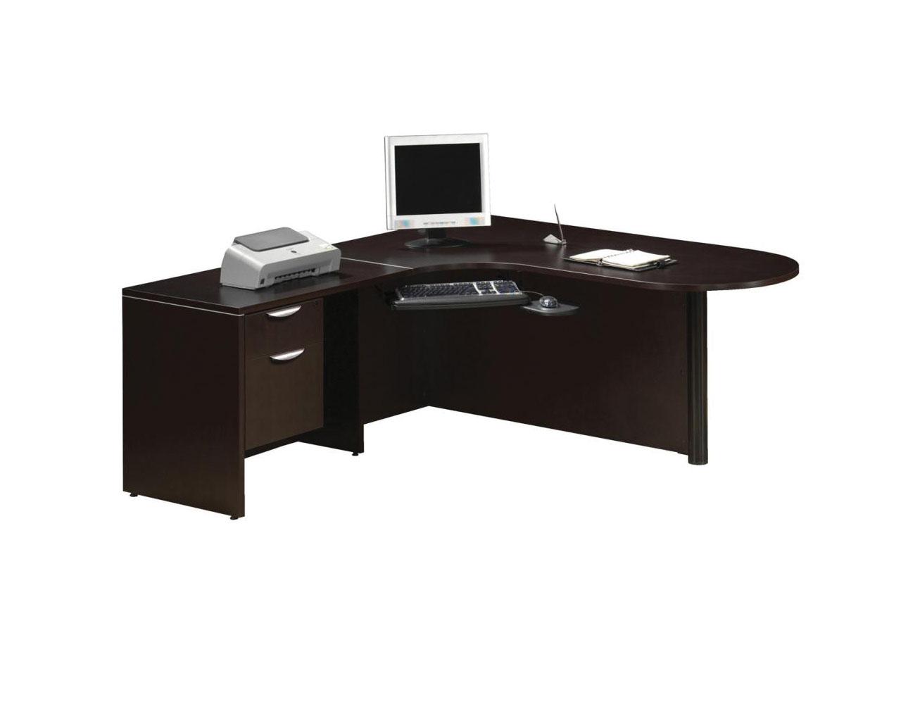 Bullet desk workstation with a 3 4 box file pedestal