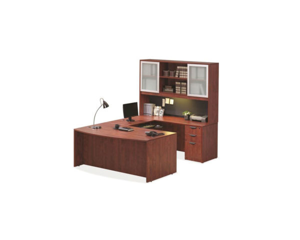 Bowfront Workstation with Optional Extended Hutch