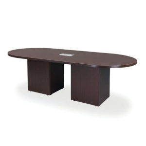 Classic Racetrack Table with Cube Base