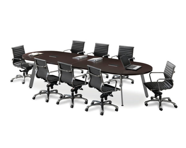 Classic Racetrack V-Leg Conference Table