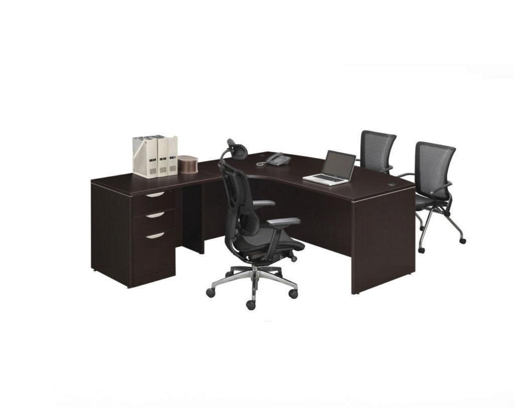 Radius Bowfront Desk with Box/Box/File Pedestal