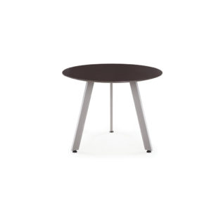 Classic Round Bevel Edge Conference Table with V-Legs