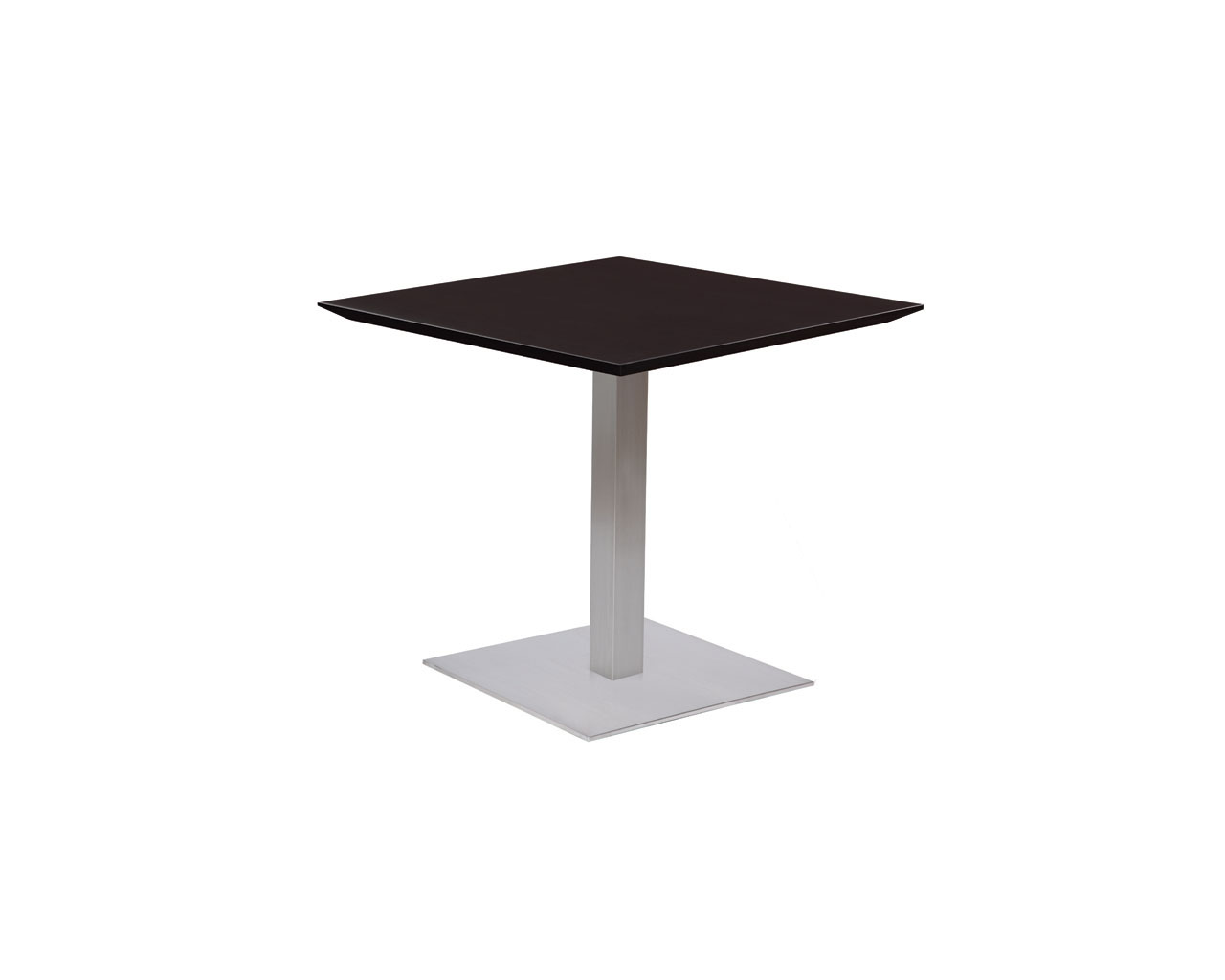 Classic Square Beveled Top Table with Square Base