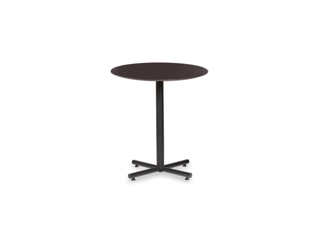 Classic Round Beveled Top Bistro Table with X-Base