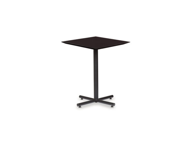 Classic Square Beveled Edge Bistro Table with X-Base