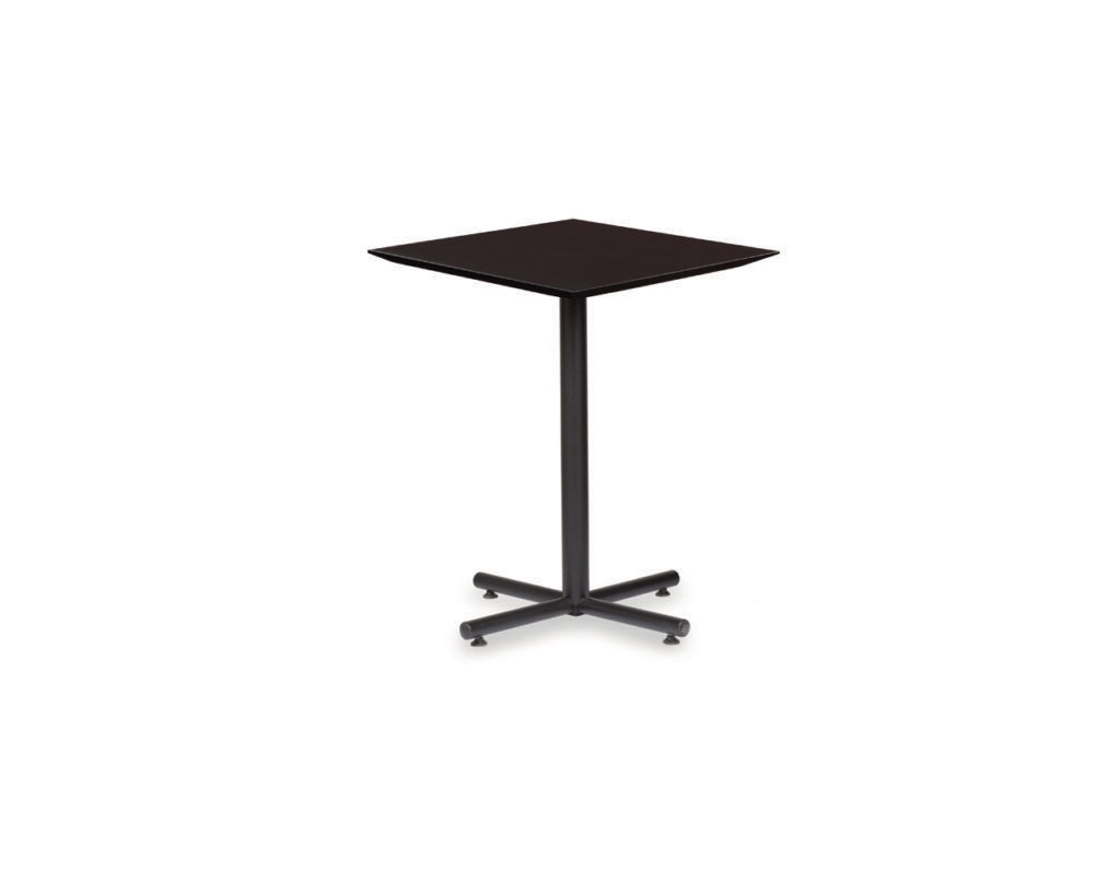 Classic Square Beveled Top Table with X-Base