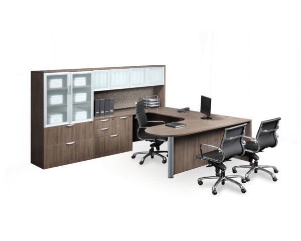 Bullet Desk Package with Optional Locking Multi-Storage