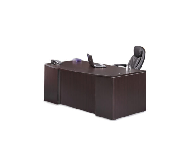 Classic Bowfront  Desk with Laminate Modesty Panel Insert