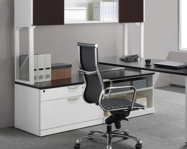 Elements Plus U-Leg Workstation with Optional Hutch