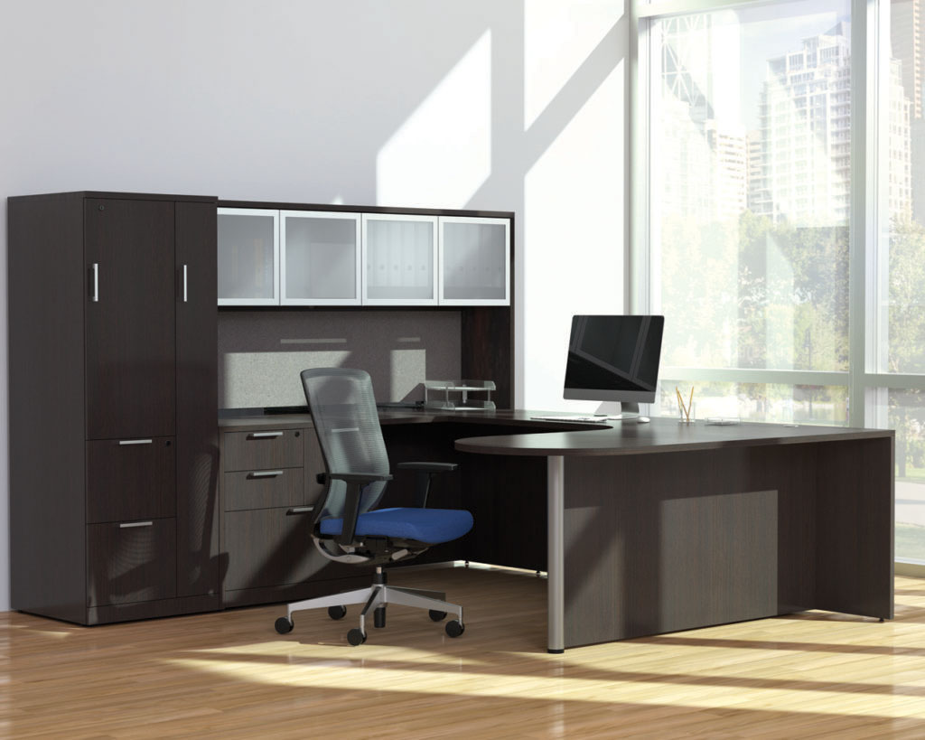 Executive Bullet Desk with optional Wardrobe, Storage and Swiss Handles