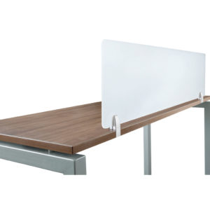 Acyrlic Privacy Panel with Desk Edge Mount Hardware