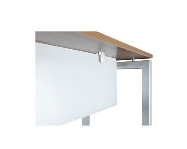 Acyrlic Privacy Panel with Under Desk Mounting Hardware