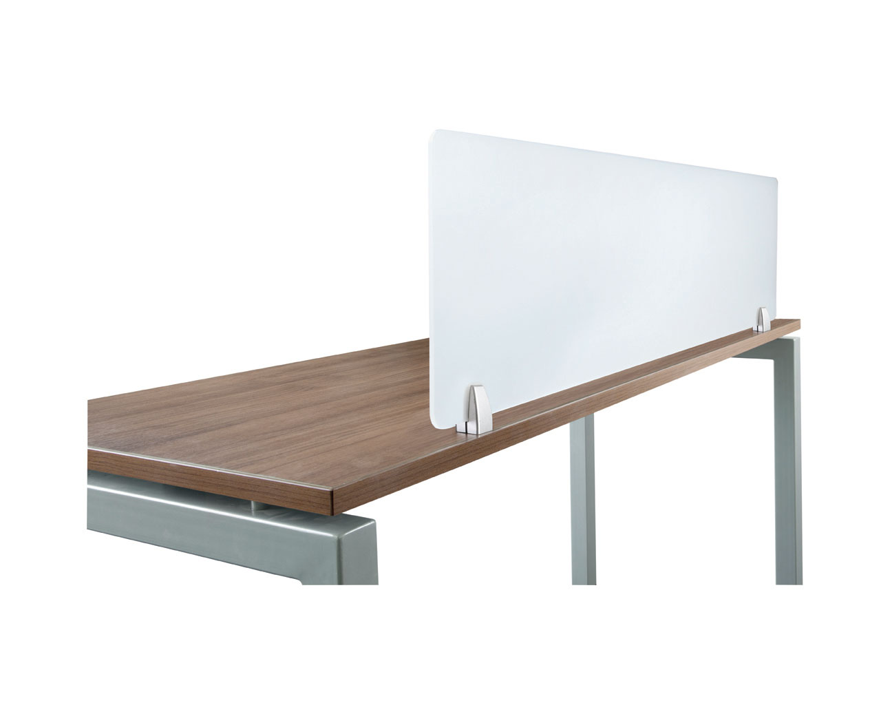 Acrylic Privacy Panel with Desk Top Mounting Hardware