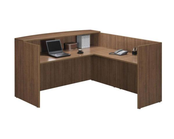 Classic Reception Desk with No Pedestals