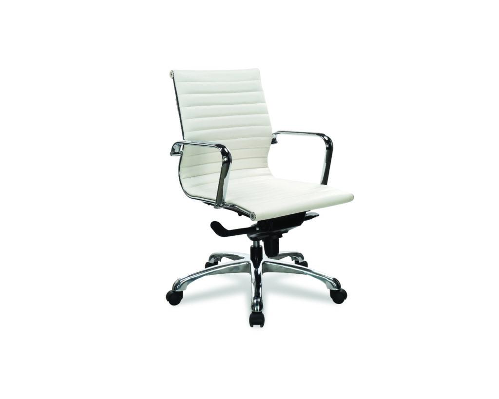 Nova Medium Back in White leathertek