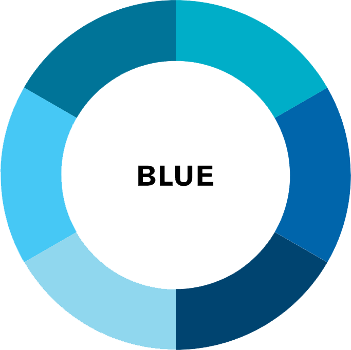 blue colour wheel