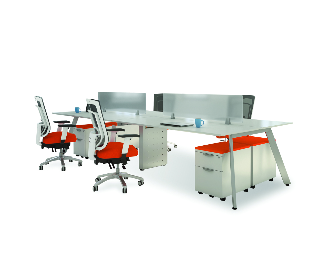 Quad V-Leg Workstation