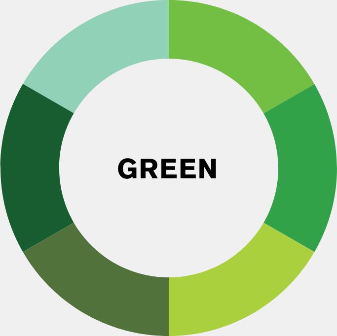 green colour wheel