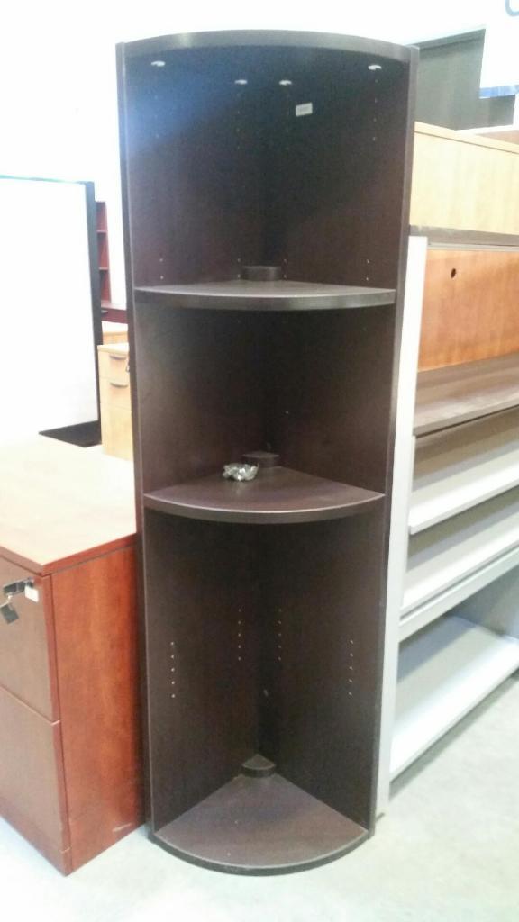Corner Bookshelf (Espresso)