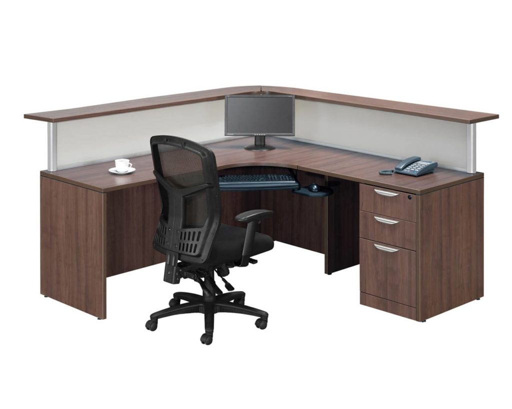 Borders Plus Reception Station with Box/Box/File Pedesal