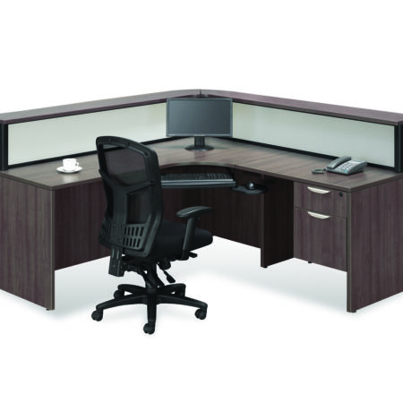 Borders Plus Reception Station with Box/File Pedesal