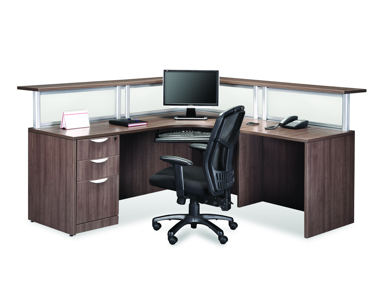 Borders Plus Reception Desk with Box/Box/File