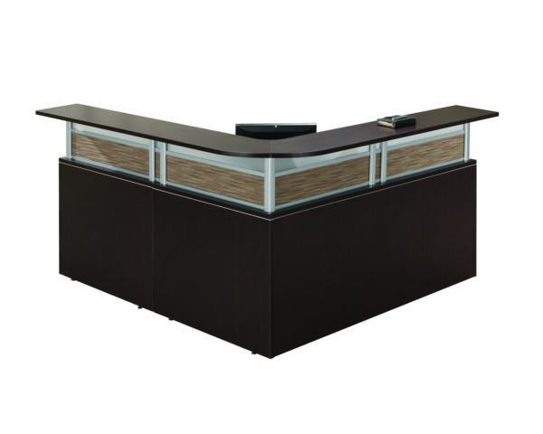 Borders Plus Reception Desk with Visconti Panels and a Box/Box/File
