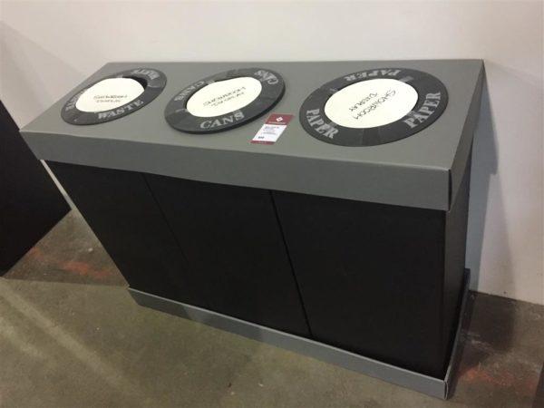 Safco Triple Bin Recycling