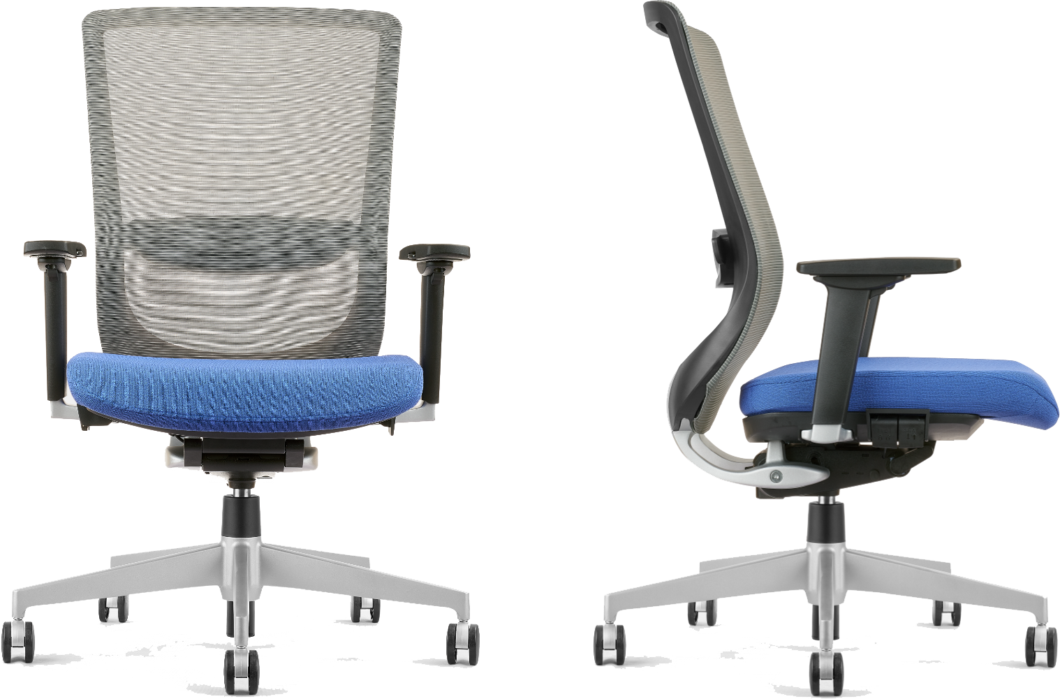 Blue adjustable ergonomic chair