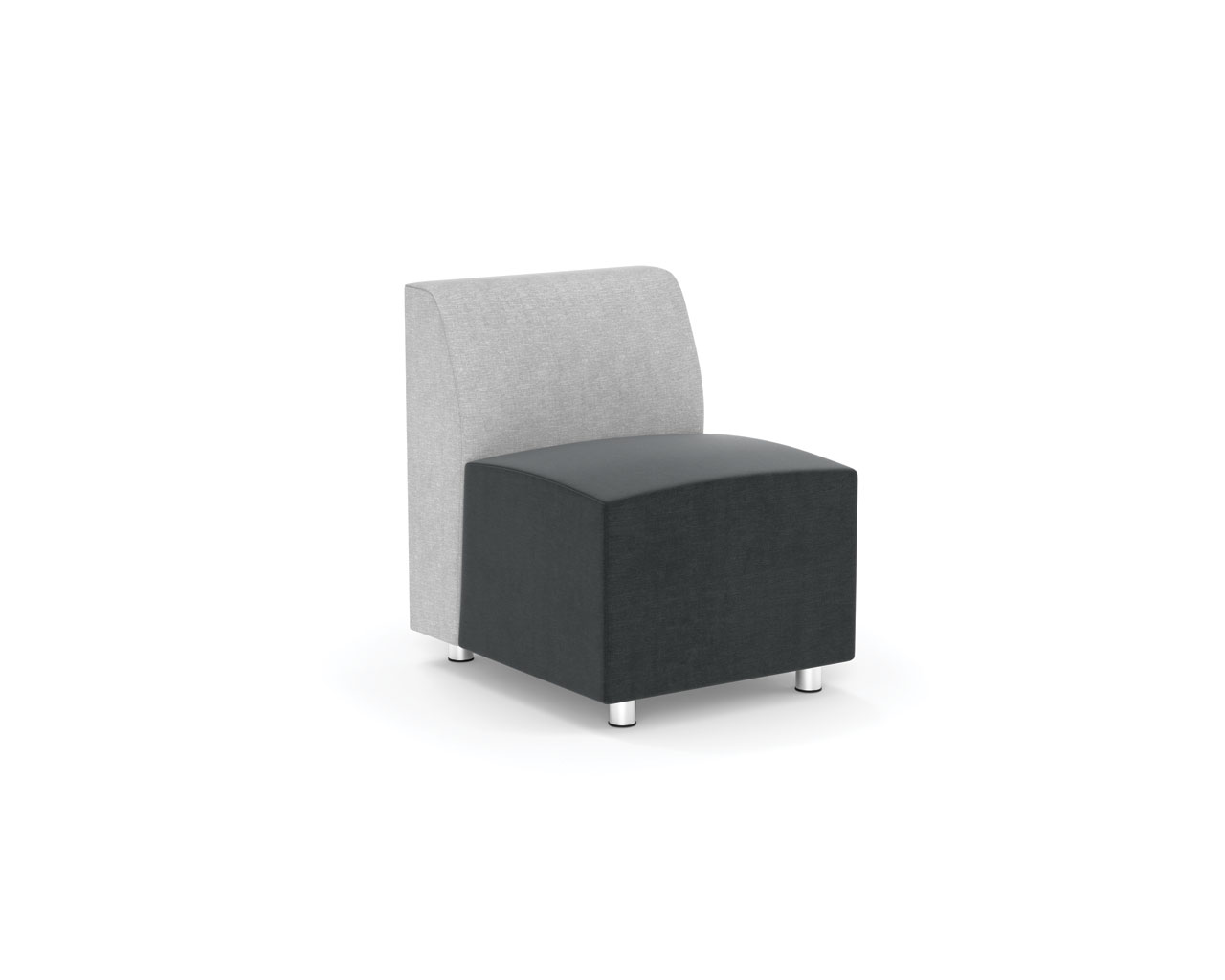 Brighton Modular Armless Chair Source Office Furniture