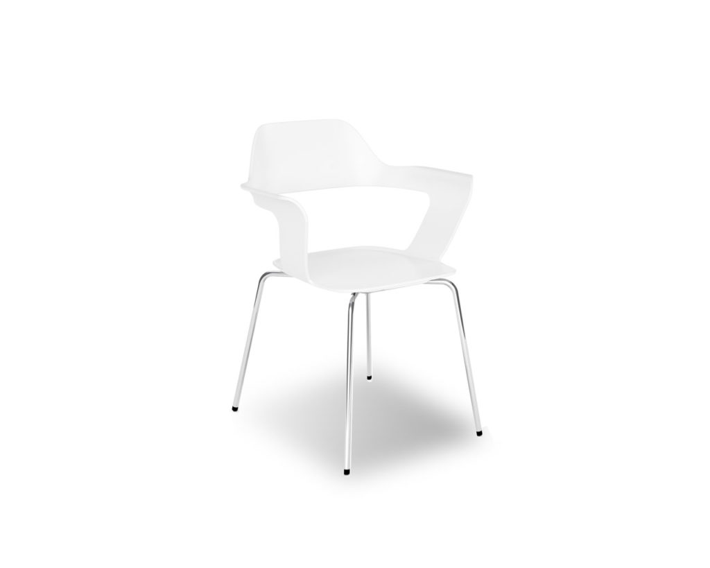 Avery Guest Chair in Cloud White