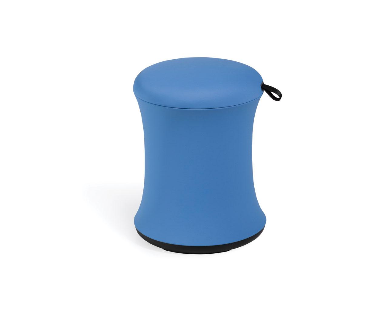 Blue office stool