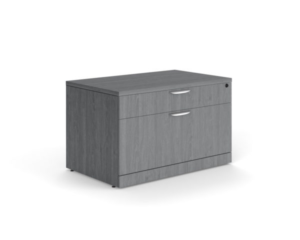 Grey cabinet with two drawers