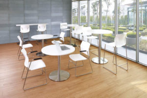 Bistro high tables with chairs