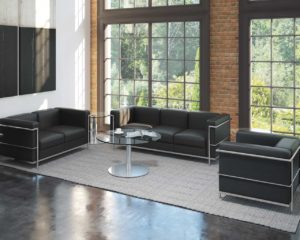 Bonded leather Madison Love Seat from Source Office Furniture