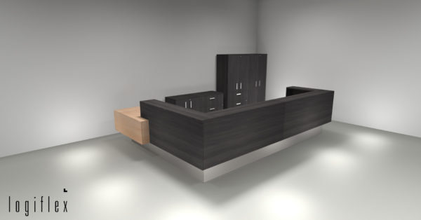 Rendering of an office desk created by the Source Edmonton team