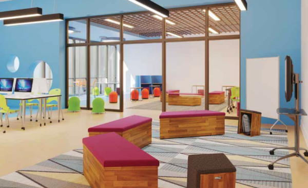 Learn by Safco furniture products in a school setting