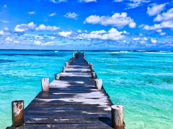 Ocean with boardwalk